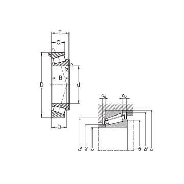 HM 89446/2/410/2/QCL7C Avsmalnande rullager