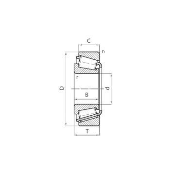 554/552D+X2S-554 Avsmalnande rullager