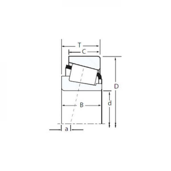 T-E-M231649D/M231610/M231610D Avsmalnande rullager #3 image